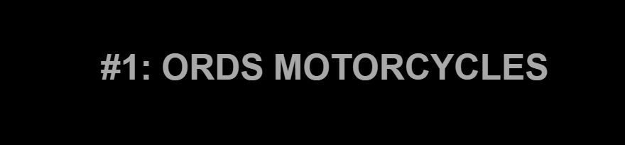 ords motorcycles