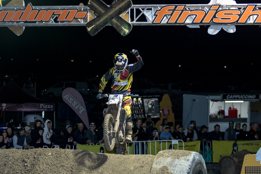 Mike Brown claims the final round win of the season and also the 2015 Australian Enduro-X Championship Credit: Aaryn Minerds